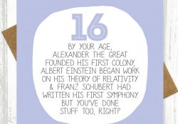 16Th Birthday Card Ideas Your Age Funny 16th Birthday Card