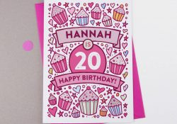 20Th Birthday Card Ideas 20th Birthday Card Cupcake Personalised