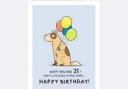 25Th Birthday Card Ideas 25th Birthday Greeting Card Lingvistov Online Store