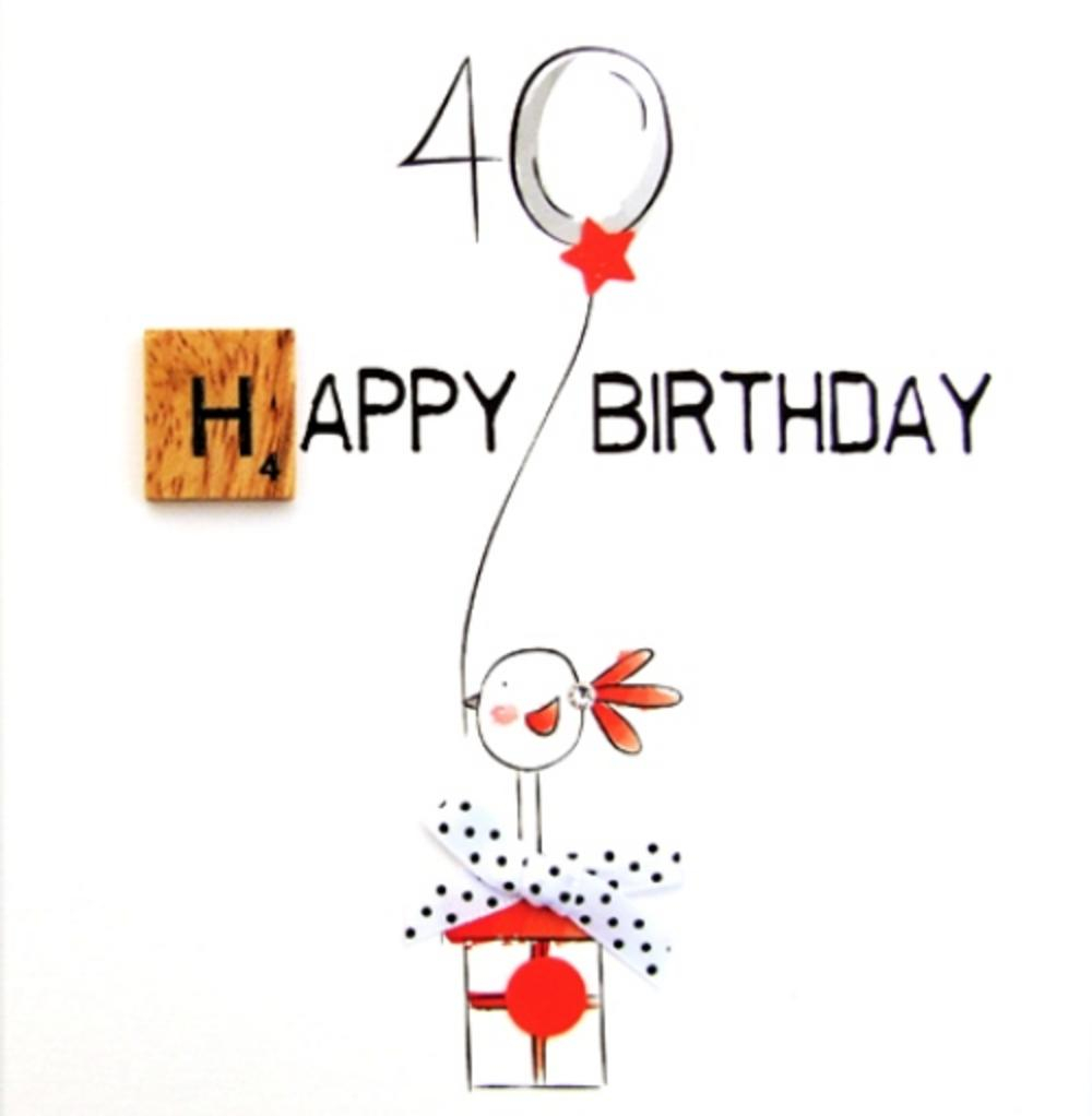 40 Birthday Card Ideas 40th Birthday Bexyboo Scrabbley Neon Greeting Card