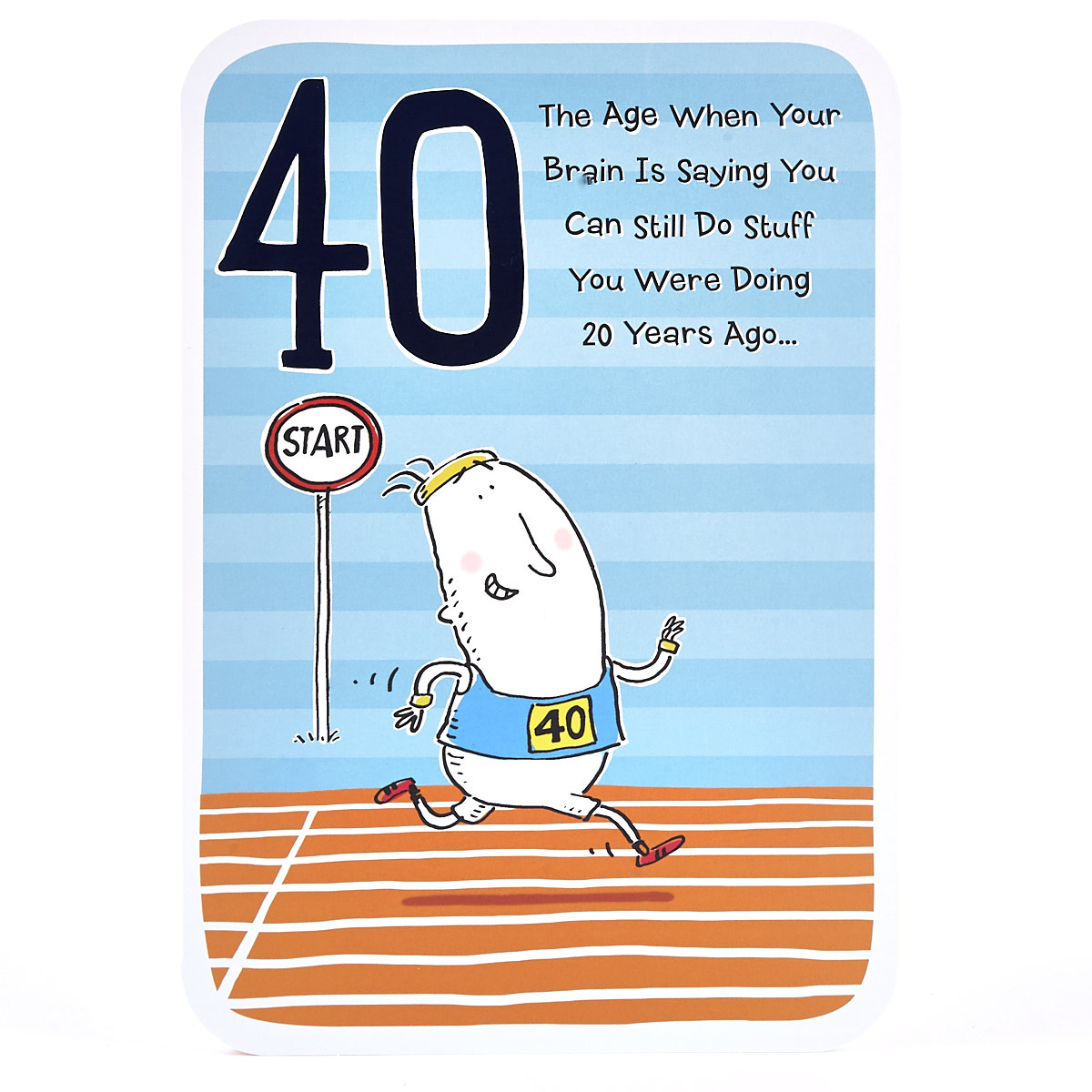 40 Birthday Card Ideas 40th Birthday Card Starting Line