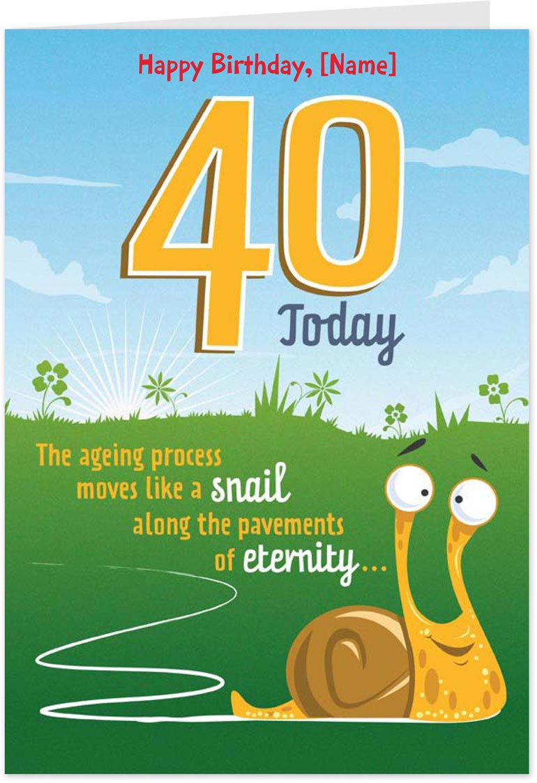 40 Birthday Card Ideas Amsbe Free Funny Personalised 40th Birthday Cards Ecards