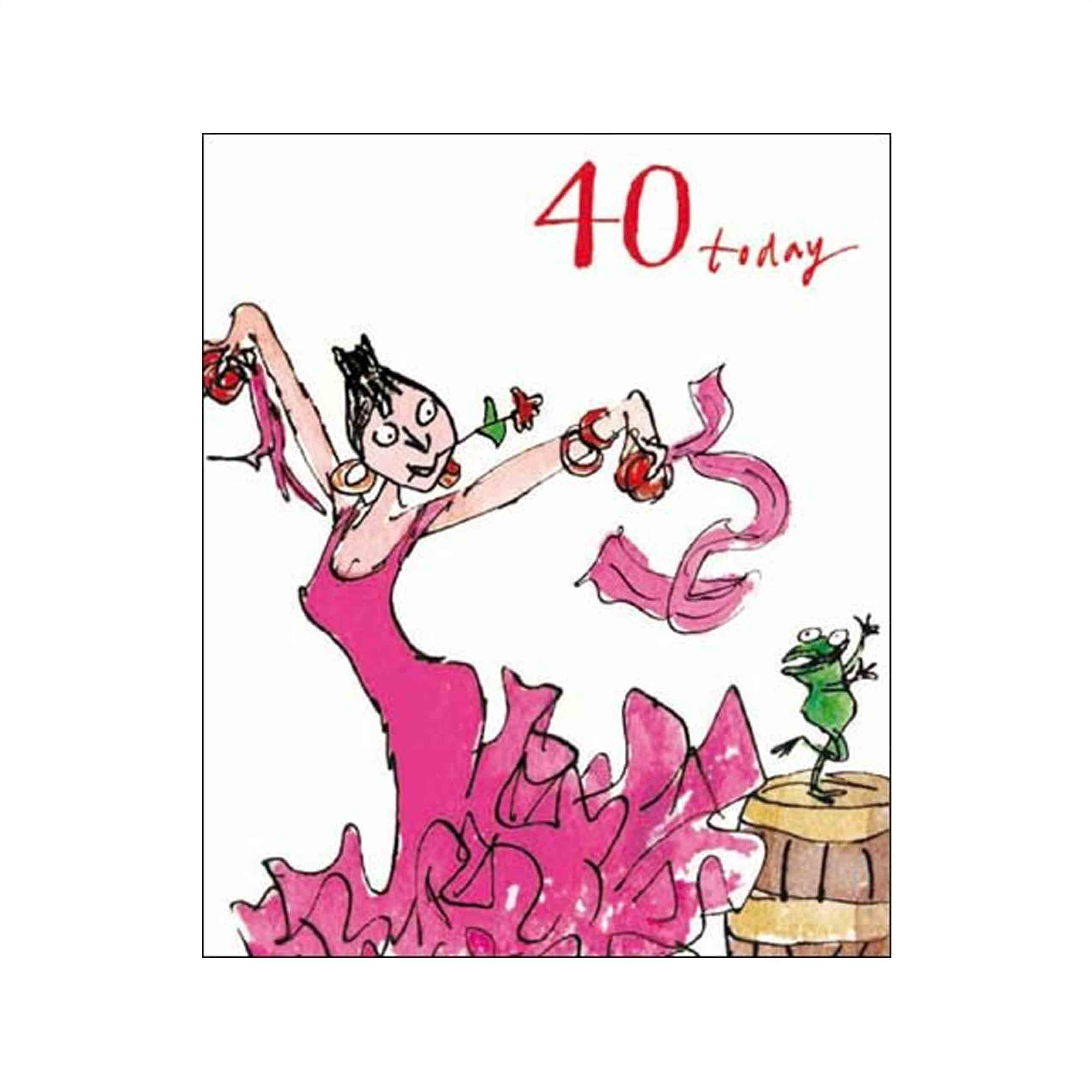 40 Birthday Card Ideas Female Birthday Card Quentin Blake Age 40