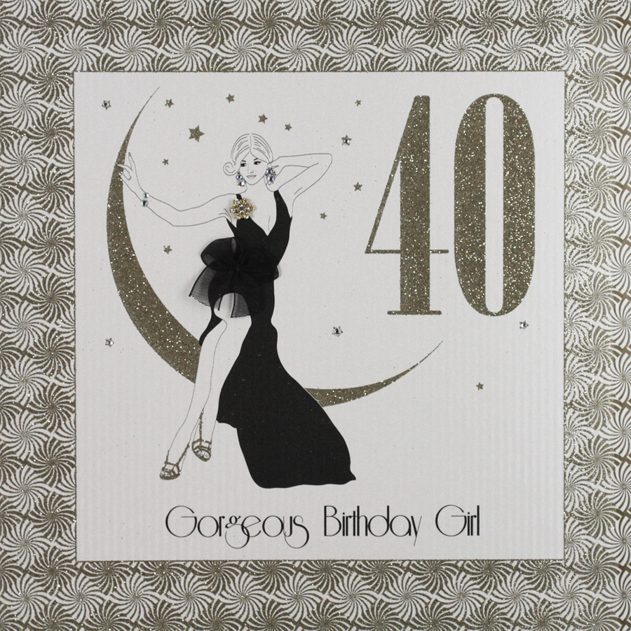 40 Birthday Card Ideas Gorgeous Birthday Girl Large Handmade 40th Birthday Card Ga5