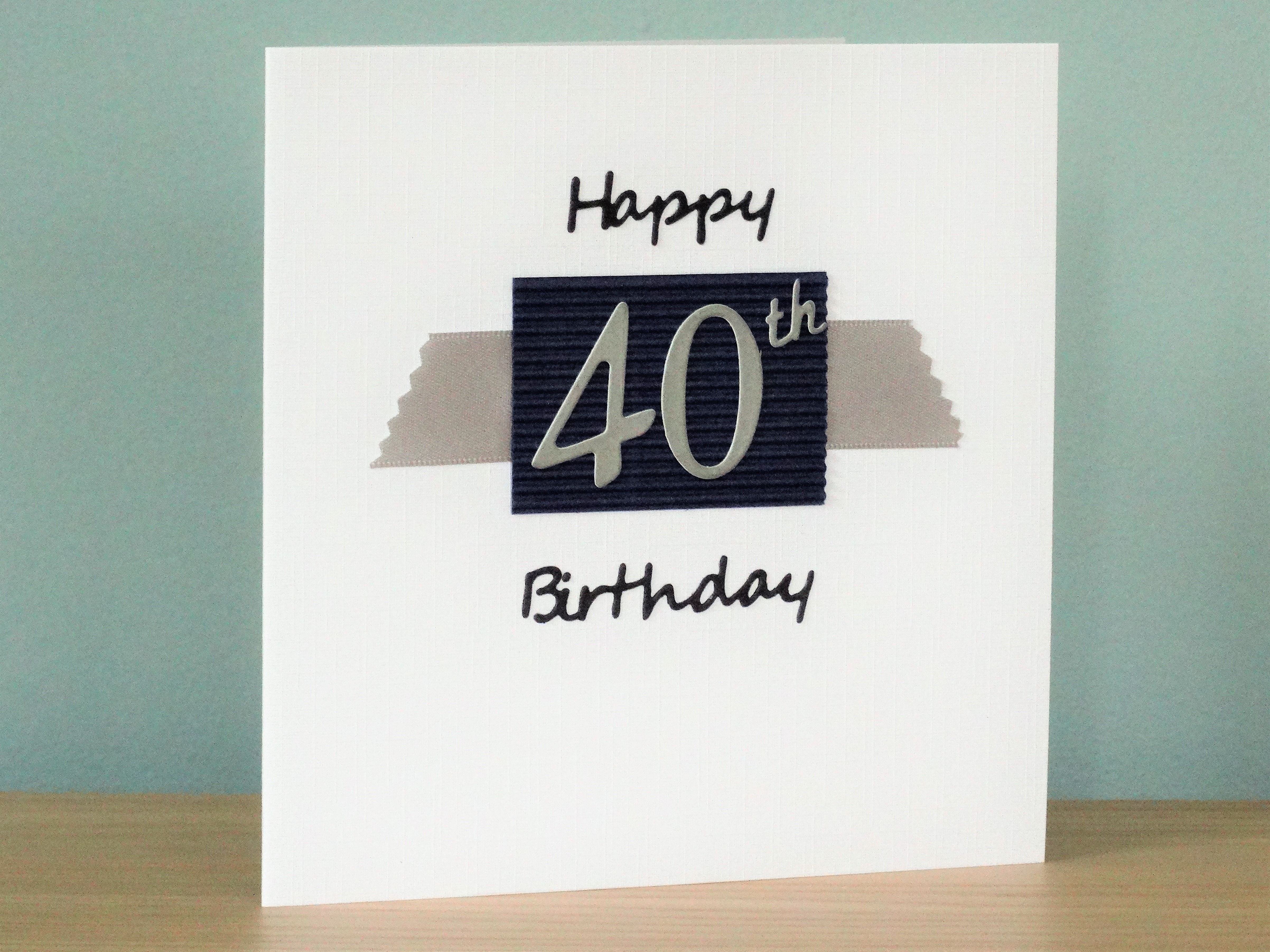 40 Birthday Card Ideas Handmade Greeting Cards A 40th Birthday Card In Pink Or Blue For A Young 40 Year Old