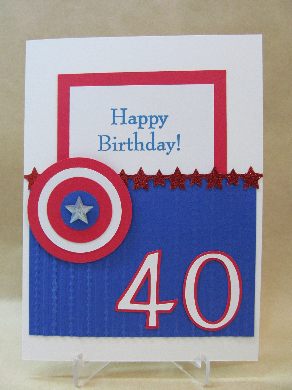 40 Birthday Card Ideas Savvy Handmade Cards Happy 40th Birthday Card