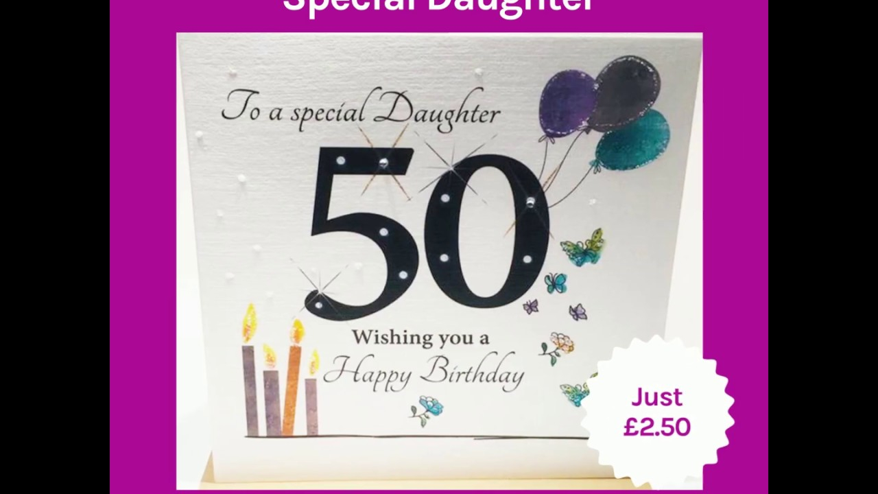 50Th Birthday Card Ideas 50th Birthday Card Special Daughter 1969 50th Card Daughter Happy