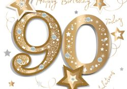 90Th Birthday Card Ideas 90th Birthday Card Congratulations 90 Today