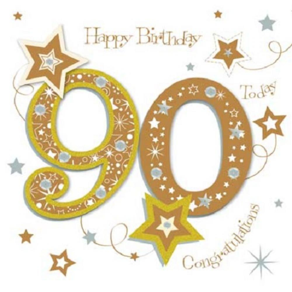 90Th Birthday Card Ideas Happy 90th Birthday Greeting Card Talking Pictures