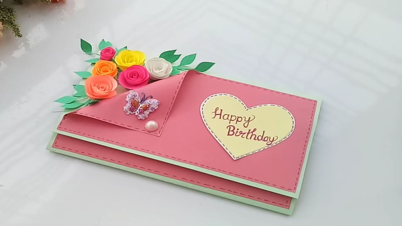 Birthday Card Idea Beautiful Handmade Birthday Cardbirthday Card Idea