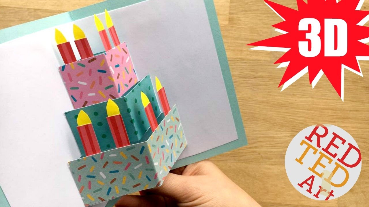 Birthday Card Idea Easy Cake Card Birthday Card Design Weddings Celebrations Diy Card Making Ideas