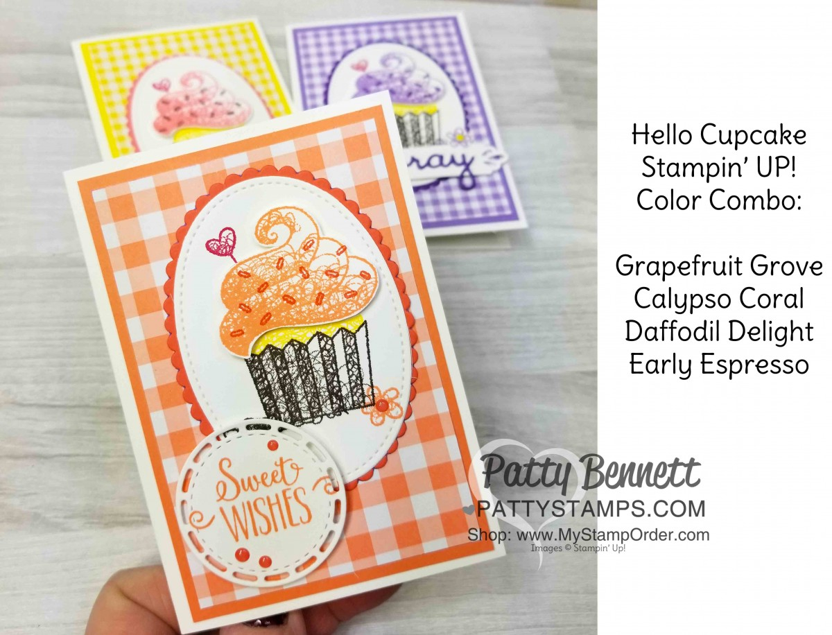 Birthday Card Idea Hello Cupcake Birthday Card Ideas Patty Stamps