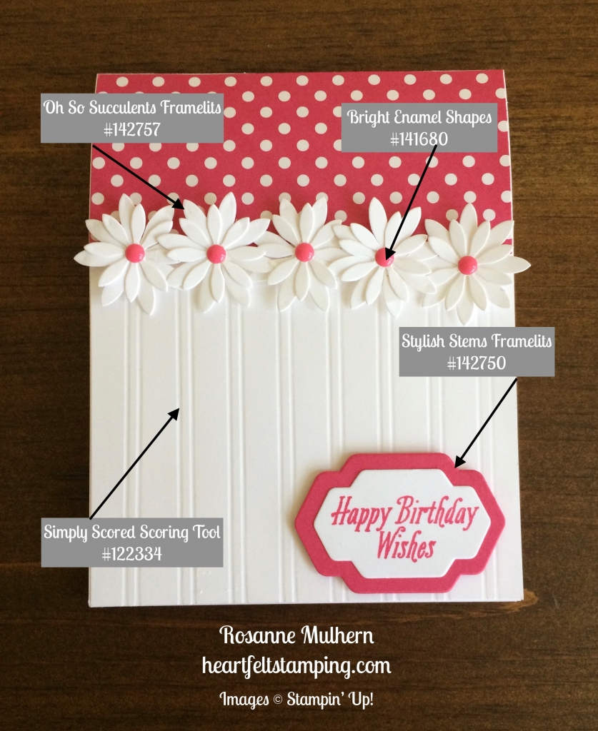 Birthday Card Idea Stampin Up Succulent Daisy Birthday Card Idea Rosanne Mulhern