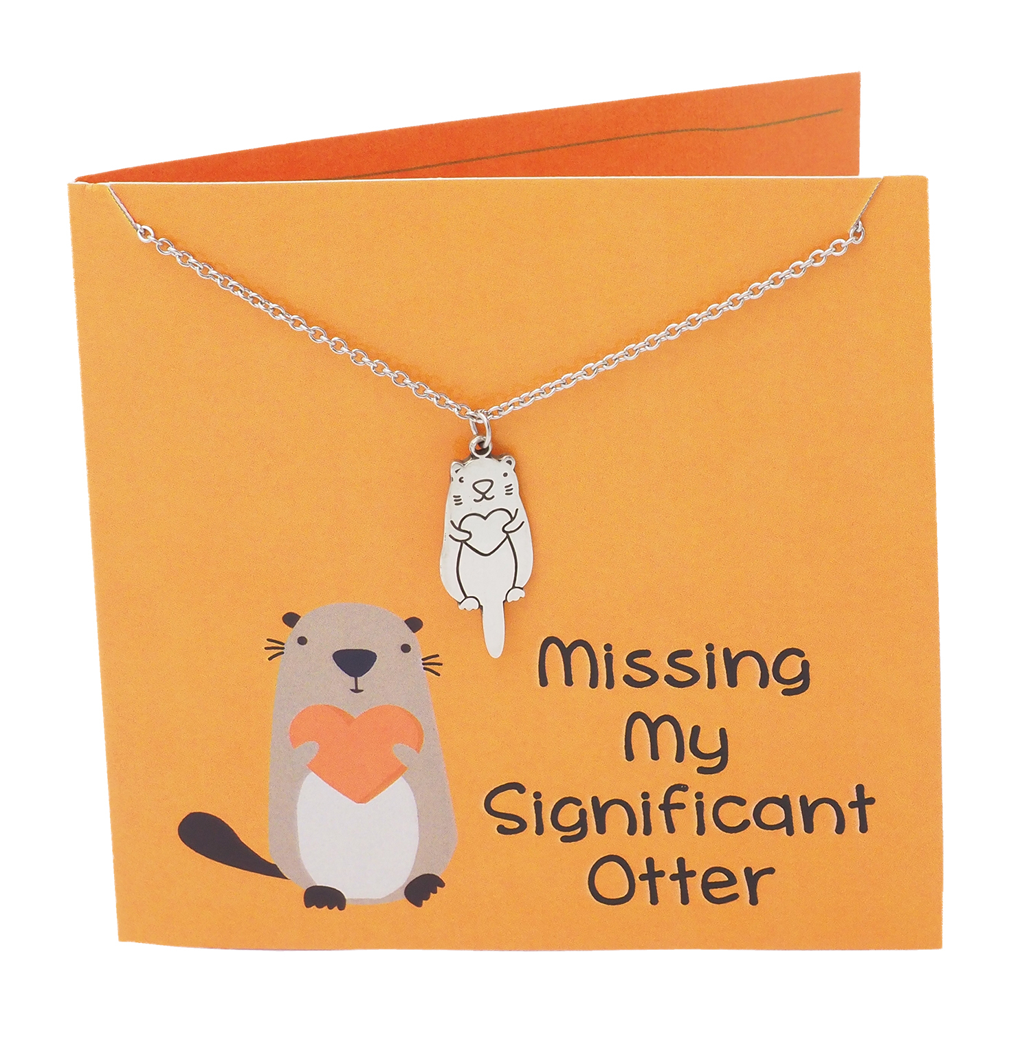 Birthday Card Ideas For Best Friend Funny Quan Jewelry Otter Friendship Necklace Funny Puns Gifts For Girlfriend Missing My Significant Otter Animal Inspired Charm Happy Birthday Cards