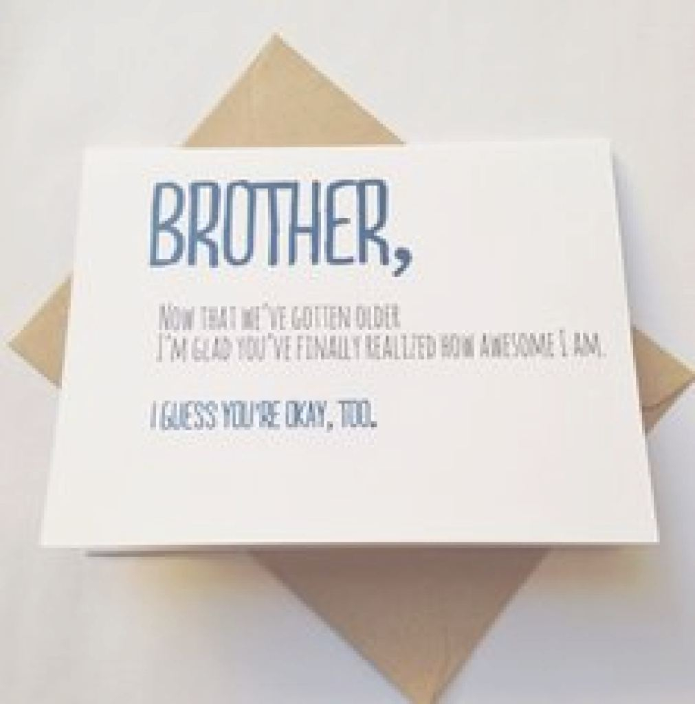 Birthday Card Ideas For Brother Funny Birthday Card Ideas For Sister The Christmas Gifts