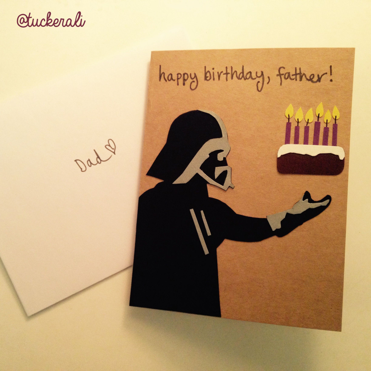 Birthday Card Ideas For Dad From Kids Birthday Card For Dad Contemporary Today In Ali Does Crafts Darth