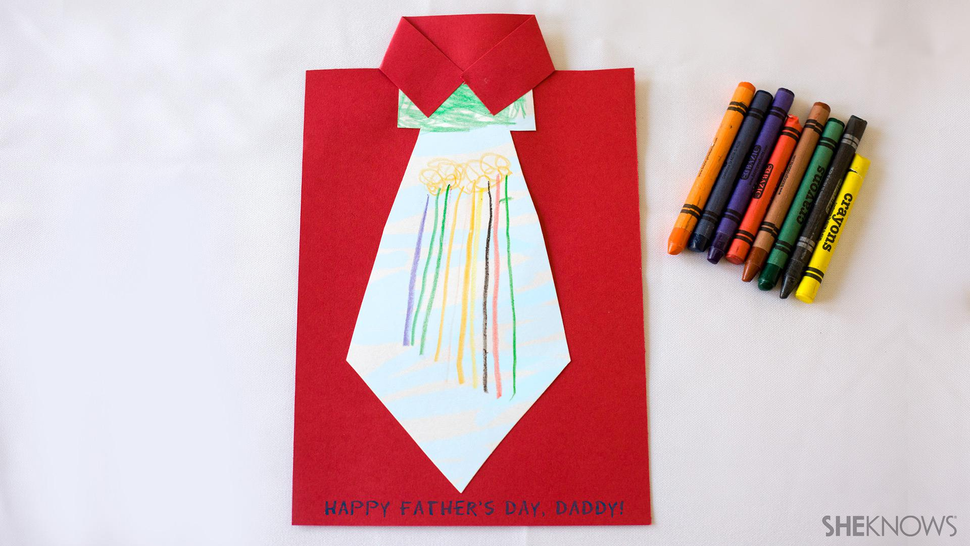 Birthday Card Ideas For Dad From Kids Diy Fathers Day Card Ideas Sheknows