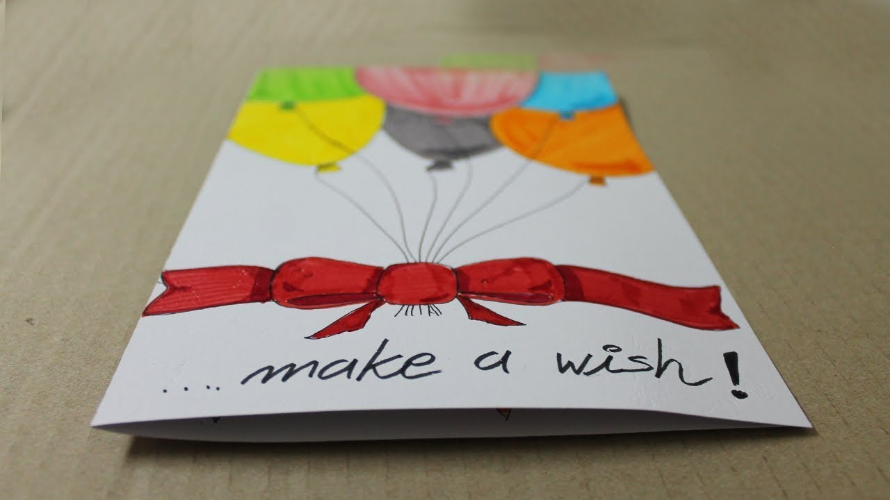 Birthday Card Ideas For Dad From Kids How To Make A Birthday Card With White Paper Handmade Cards
