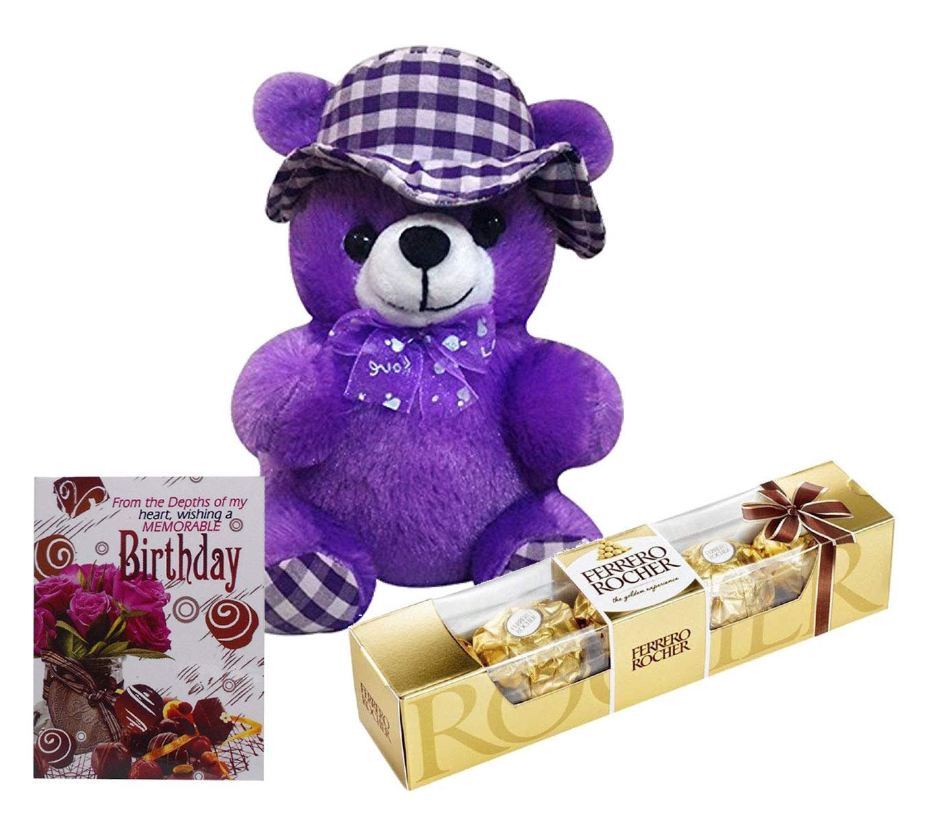 Birthday Card Ideas For Girlfriend Birthday Gift For Girlfriend Or Wife Purple Cap Teddy With Small