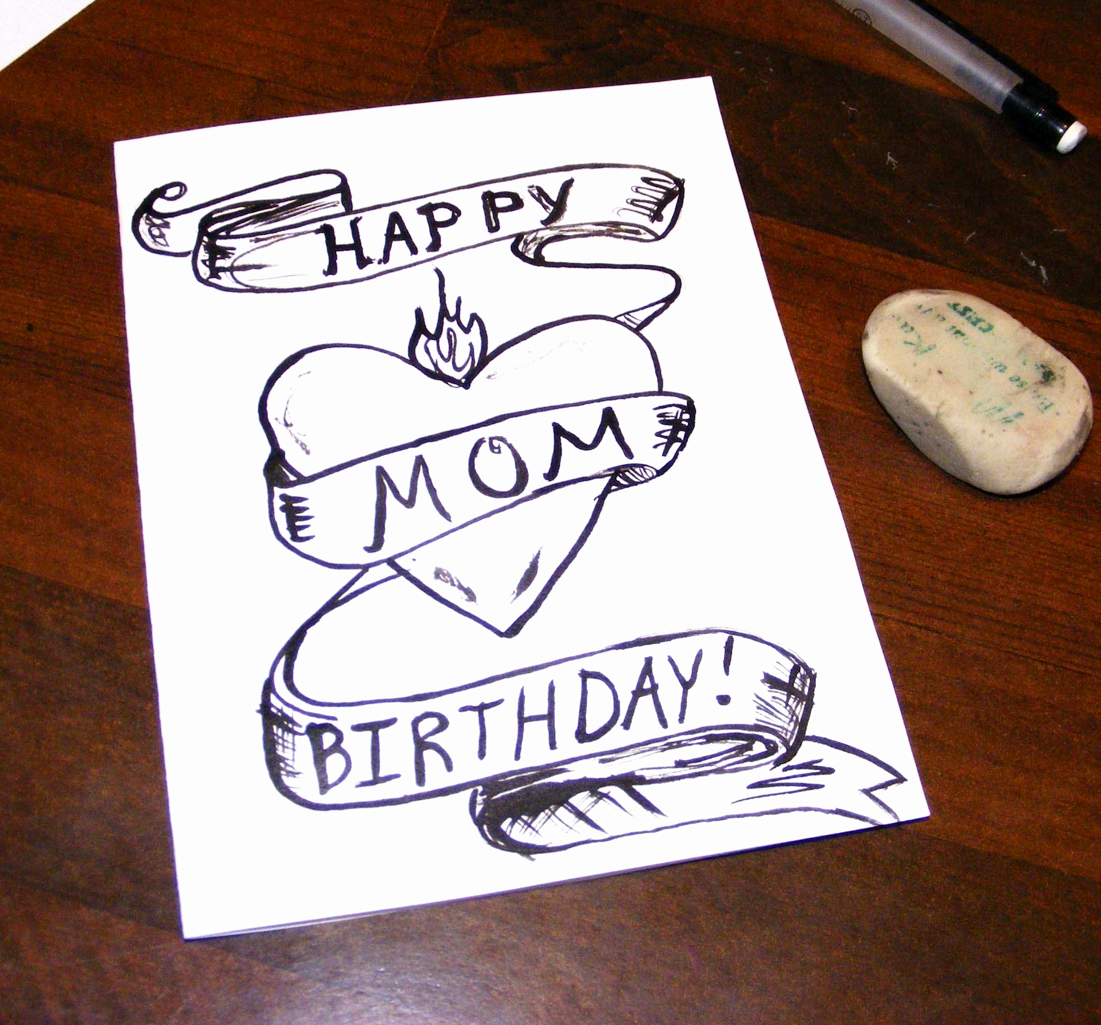 Birthday Card Ideas For Mom Happy Birthday Drawing Ideas At Paintingvalley Explore