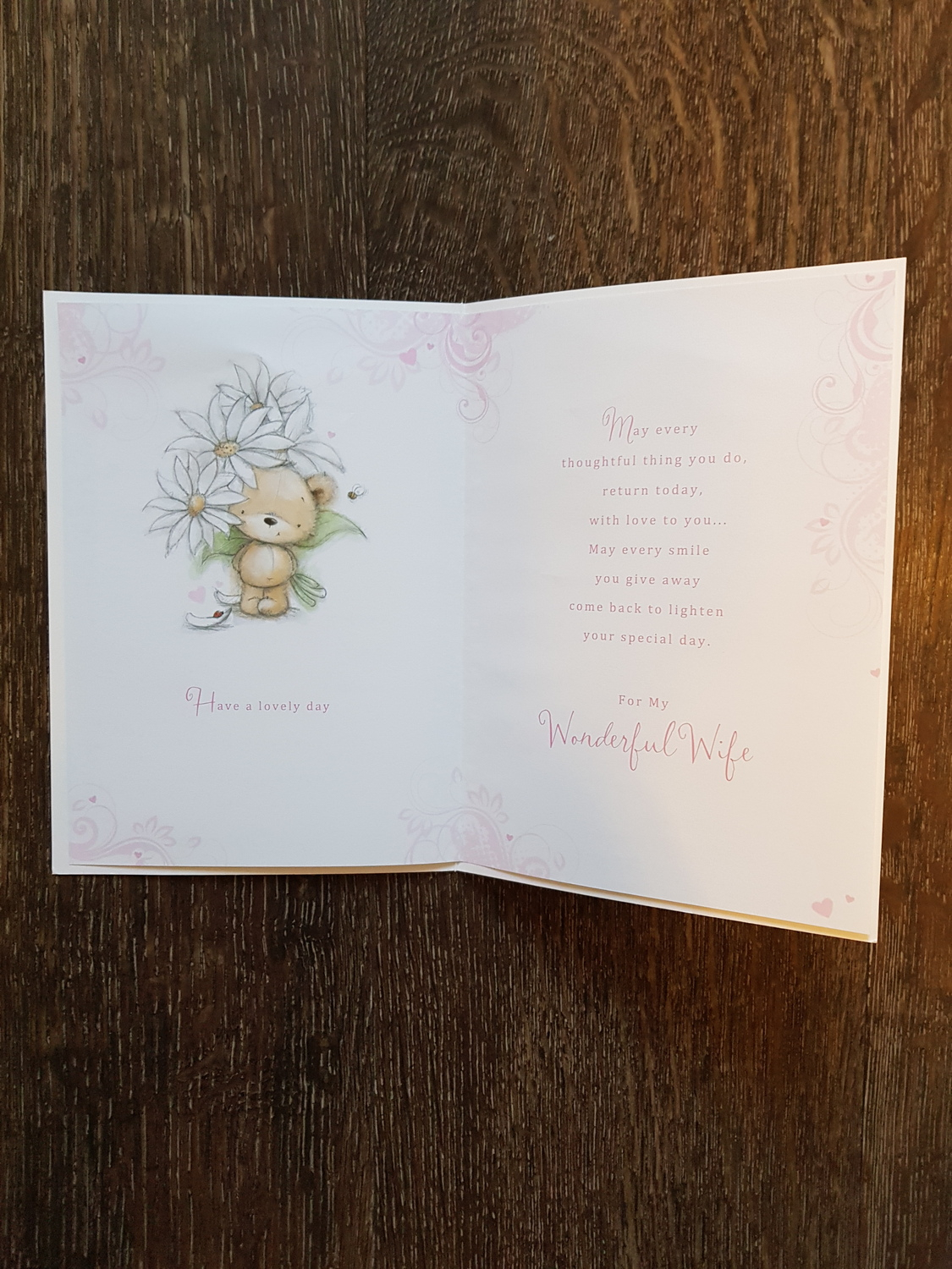 Birthday Card Ideas For Wife For My Wife Teddy Flowers Birthday Card Remember That Card