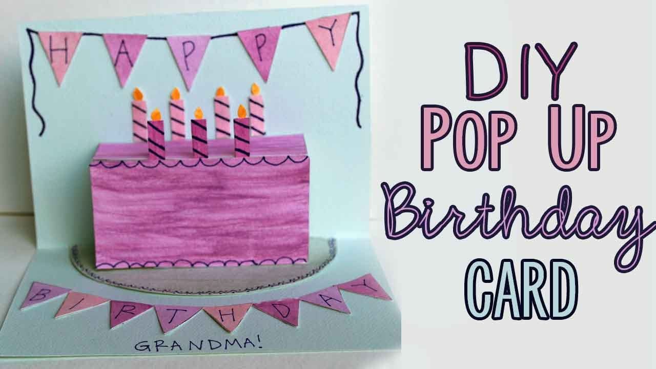 Birthday Cards For Grandma Ideas Diy Pop Up Birthday Card