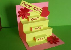 Birthday Cards For Mom Ideas How To Make A Greeting Pop Up Card For Mom Birthday Mothers Day
