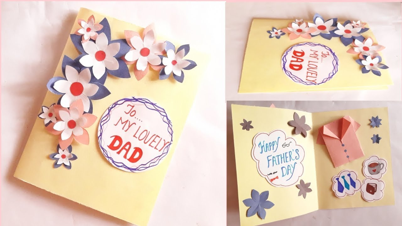 Birthday Cards Ideas For Dad Greeting Card Idea For Dad Fathers Day Fathers Birthday
