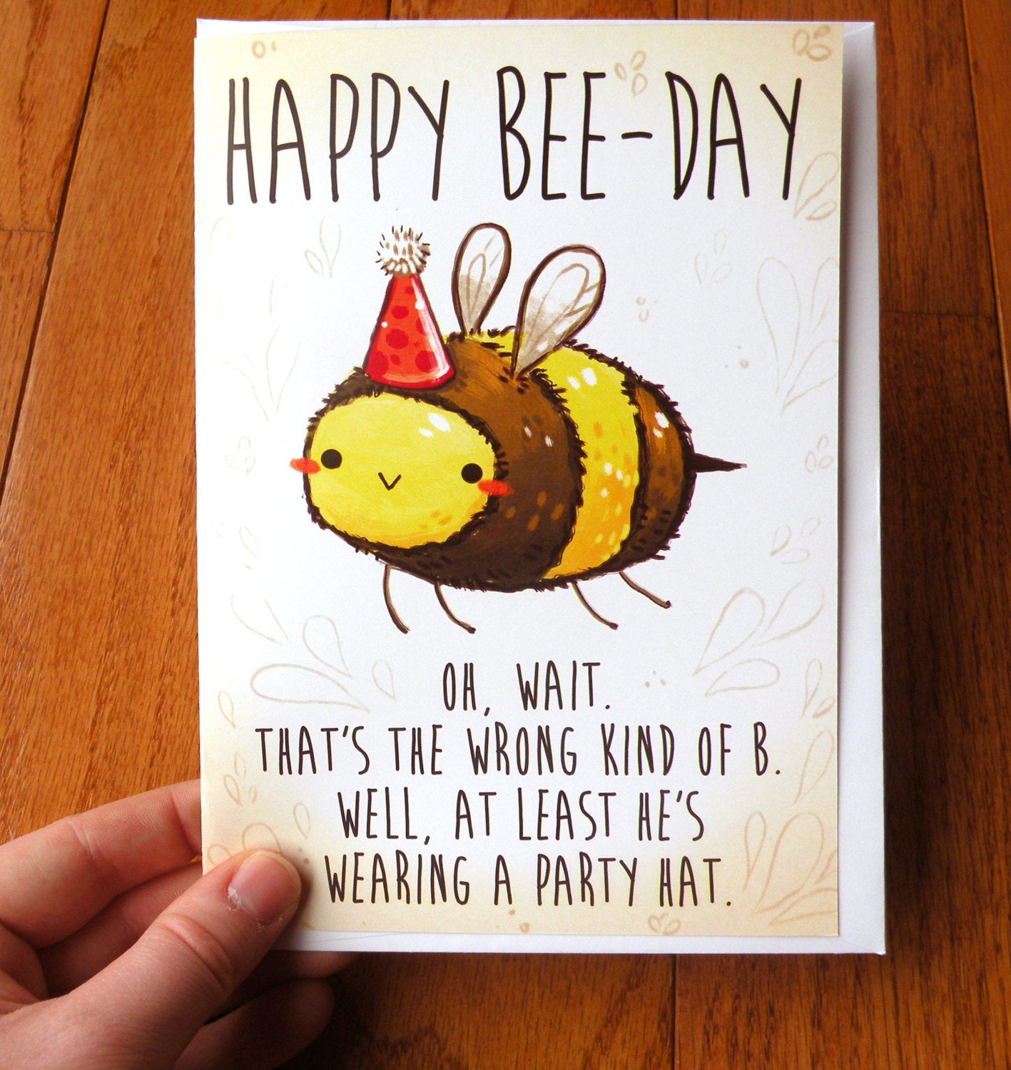 Birthday Cards Ideas For Friends Funny Birthday Card Bee Card Cards Cute Cards Greeting Card Funny Card Stationary