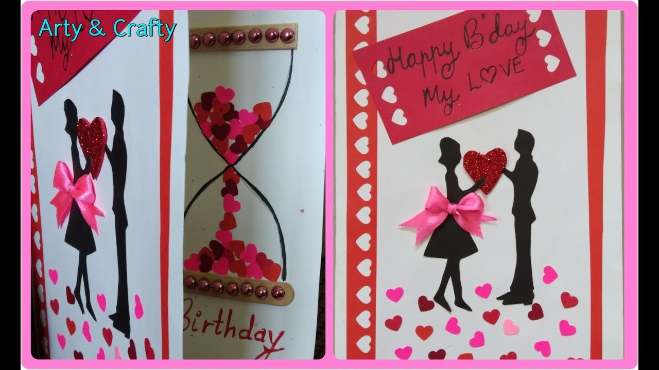 Birthday Cards Ideas For Him Diy Birthday Cardbeautiful Handmade Birthday Card Romantic Greeting Card Idea Arty Crafty