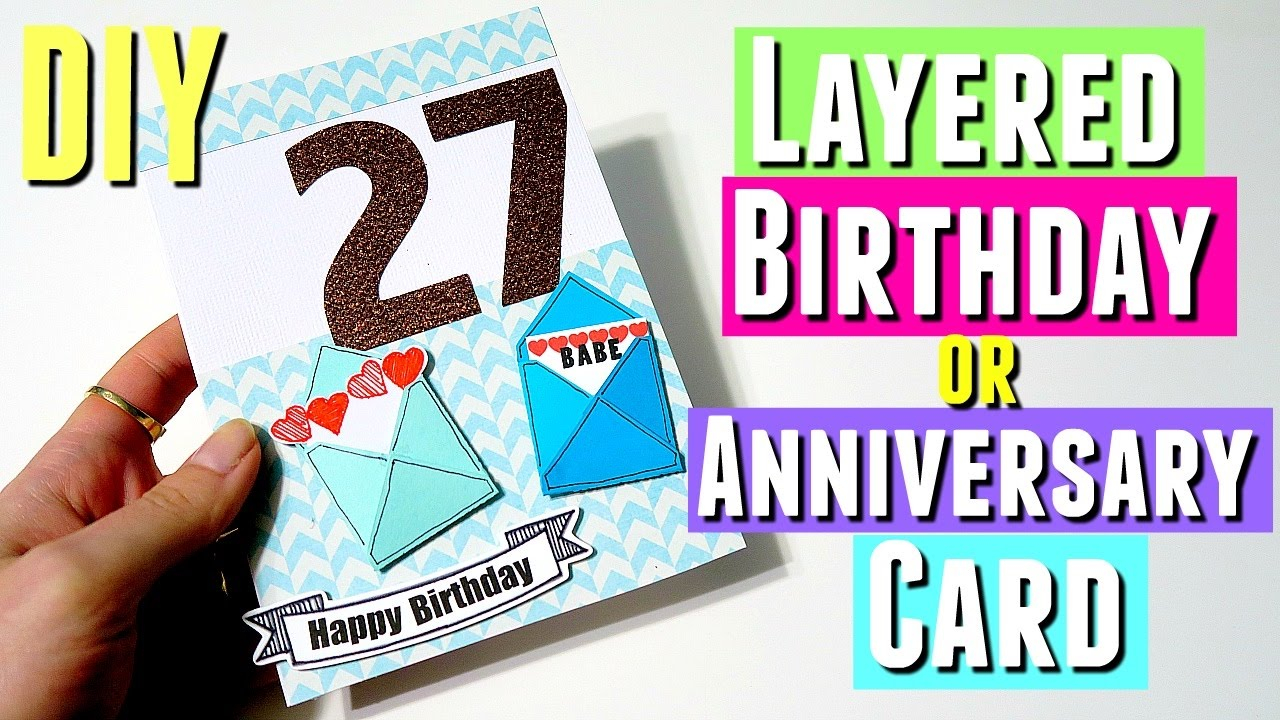 Birthday Cards Ideas For Him Diy Layered Birthday Card For Him Pinterest Inspired Diy Birthday Card Using Silhouette
