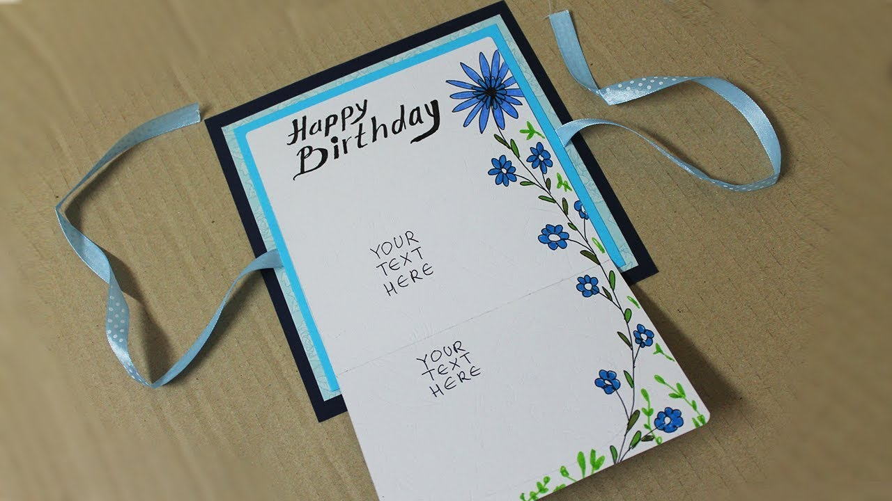 Birthday Cards Ideas For Him How To Make Birthday Card For Boyfriend Homemade Card Making