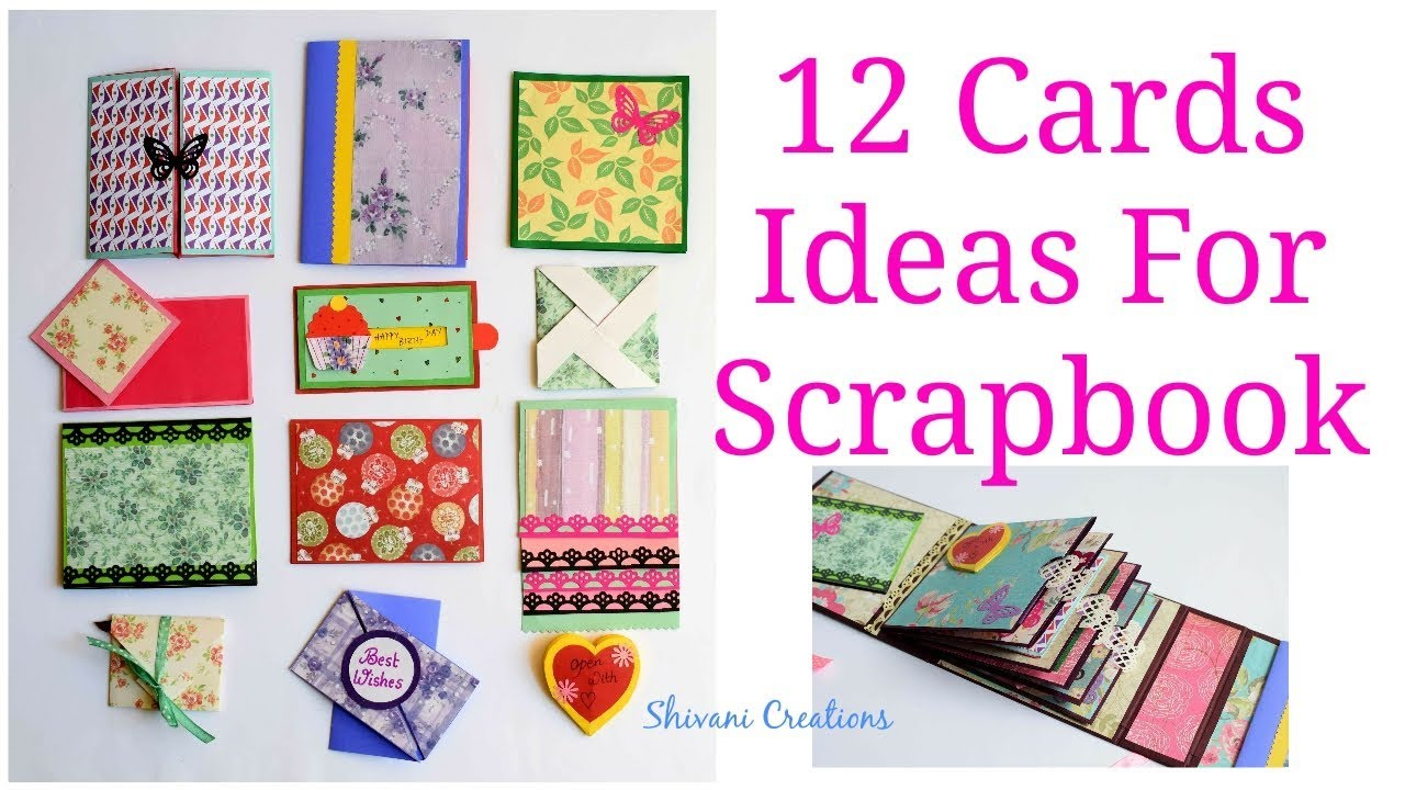 Birthday Cards Scrapbooking Ideas How To Make Scrapbook Pages 12 Birthday Card Ideas Diy Birthday Scrapbook Part Two