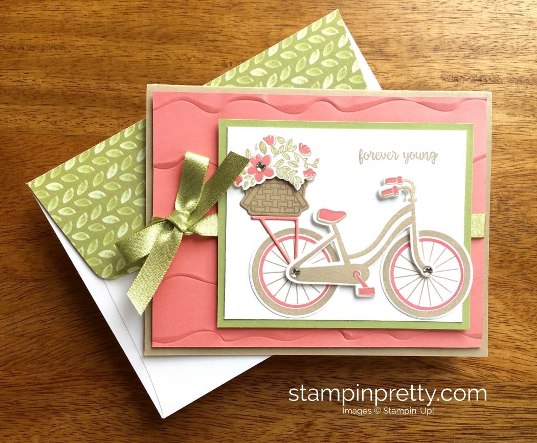 Card Ideas Birthday Beautiful Bike Ride Birthday Card Idea Stampin Pretty