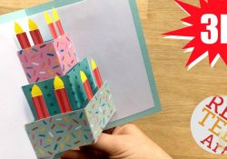 Card Ideas Birthday Easy Cake Card Birthday Card Design Weddings Celebrations Diy Card Making Ideas