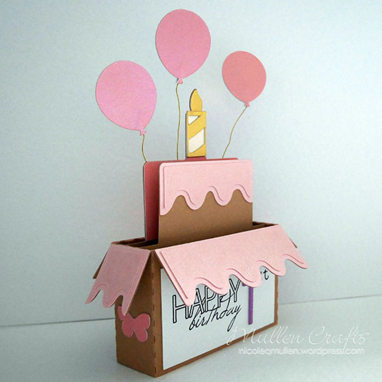 Card Ideas Birthday Handmade Birthday Card Idea Using Silhouette Birthday Box Cutting File