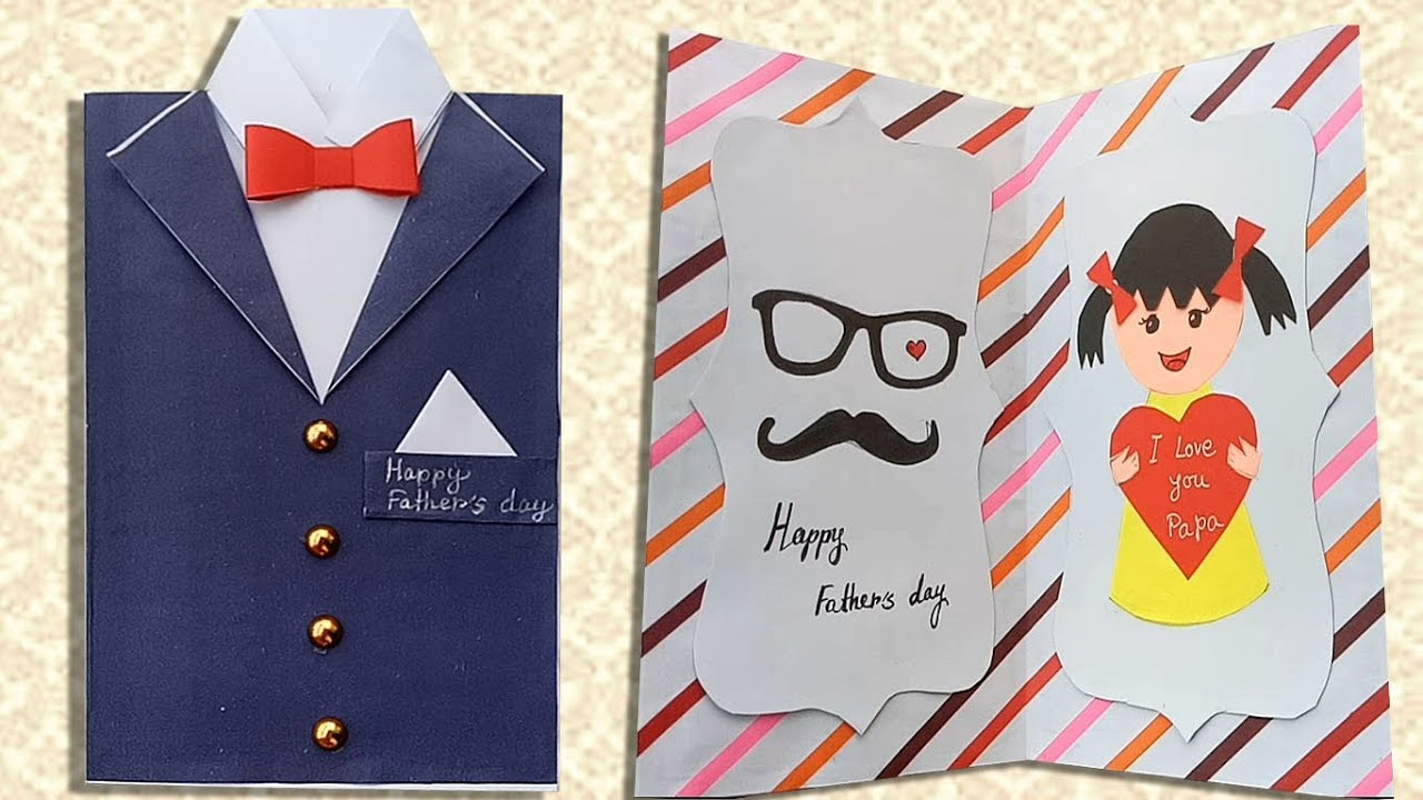 Card Ideas For Dads Birthday Diy Fathers Day Greeting Card Ideas Handmade Fathers Day Cards