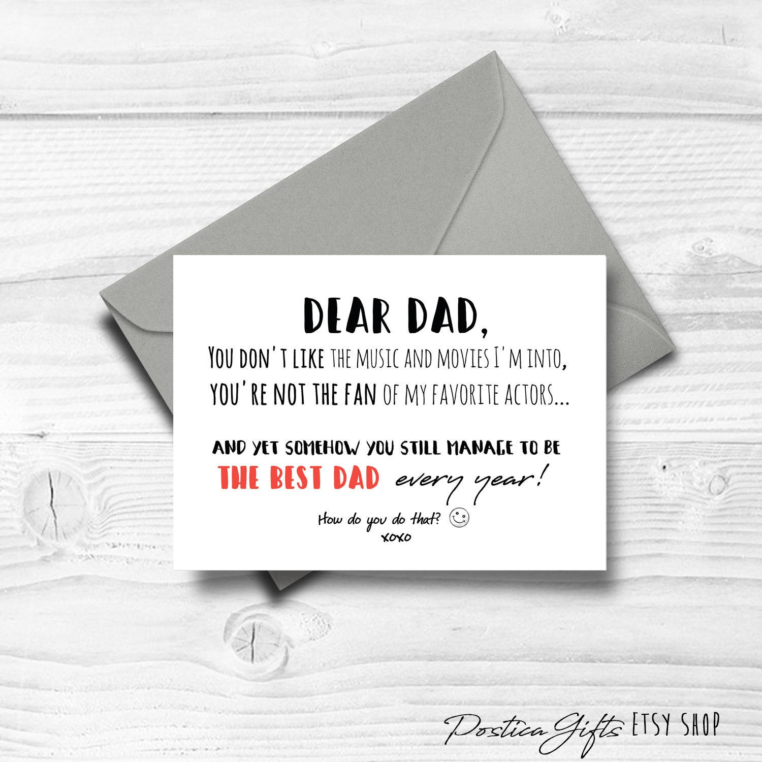 Card Ideas For Dads Birthday Father Birthday Card Thanks Dad Funny Birthday Card Gifts For Dad Father Gift Idea Congratulations Printable Digital Download 30th 40th 50th