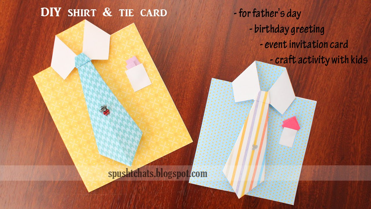 Card Ideas For Dads Birthday Shirt Tie Greeting Card For Birthday Fathers Day