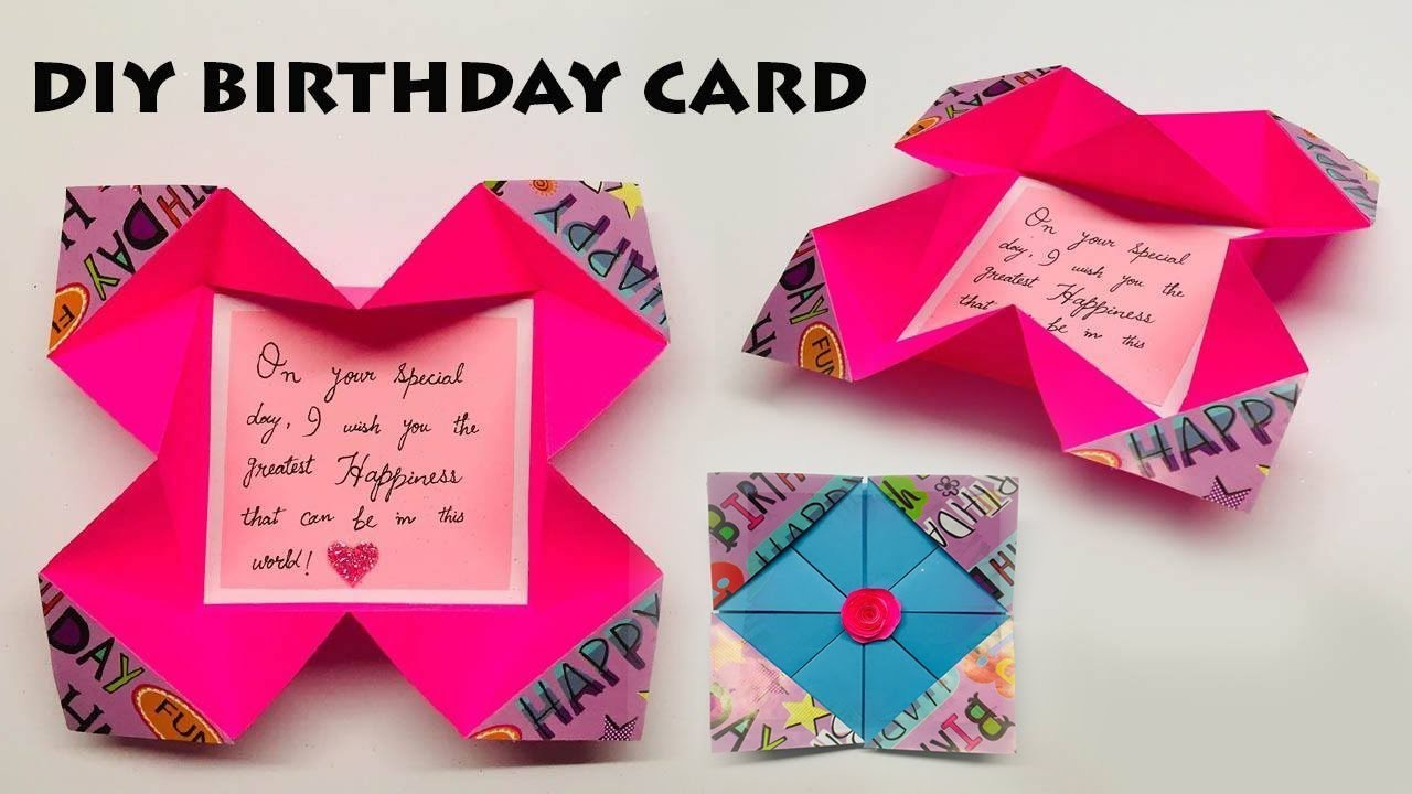Card Making Ideas For Birthday How To Make Easy Birthday Card Card Making Ideas Birthday Card Ideas