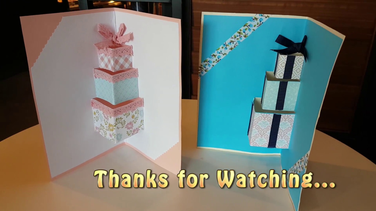 Card Making Ideas For Friends Birthday Diy1 3d Pop Up Gift Boxes Birthday Card Idea To Your Girls And Boy Friends