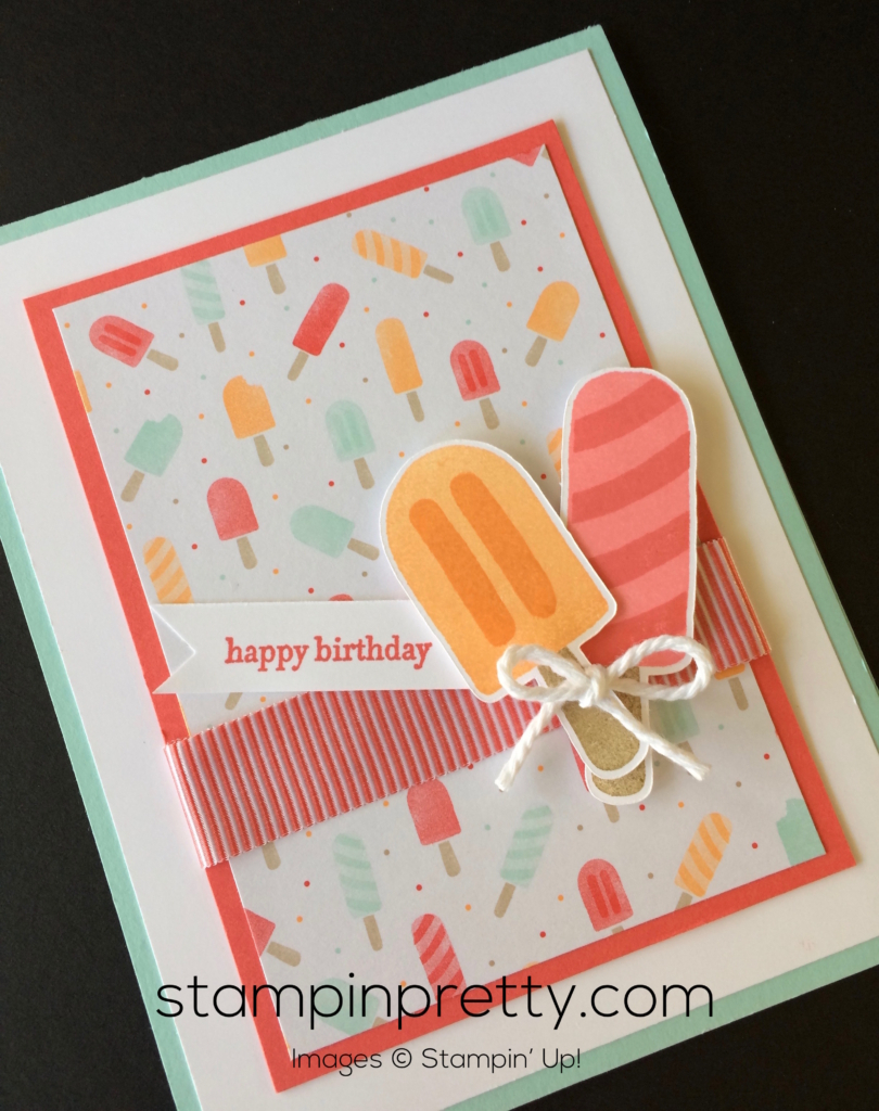 Cool Birthday Card Ideas Stampin Up Cool Treats Birthday Card Stampin Pretty