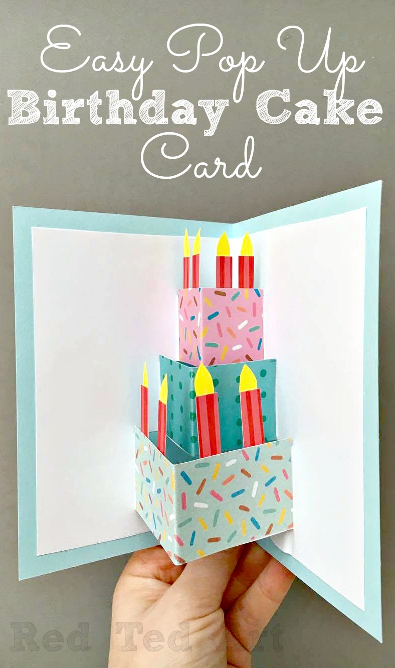 Creative Ideas For Birthday Card Making Easy Pop Up Birthday Card Diy Red Ted Art