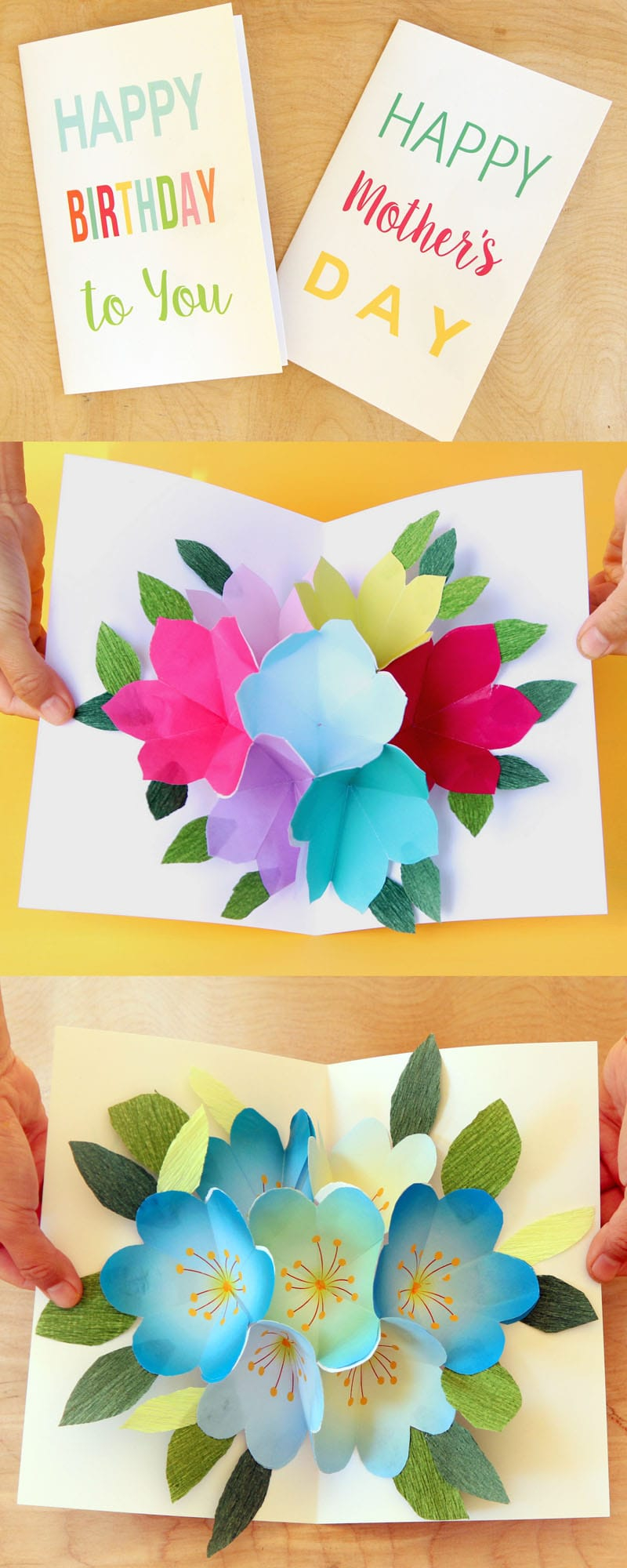 Creative Ideas For Birthday Card Making Free Printable Happy Birthday Card With Pop Up Bouquet A Piece Of