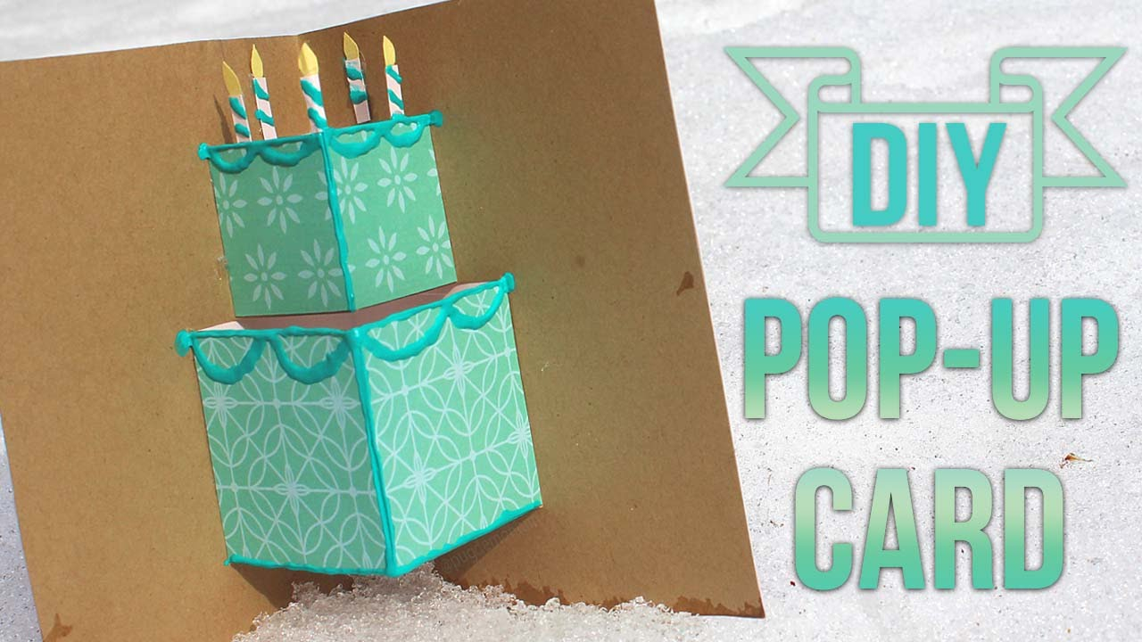 Creative Ideas For Birthday Card Making How To Make A Simple Pop Up Birthday Card Youtube