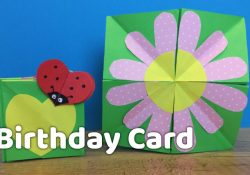 Creative Ideas For Making Birthday Cards Diy Creative Birthday Card Idea For Kids Very Easy To Make At Home