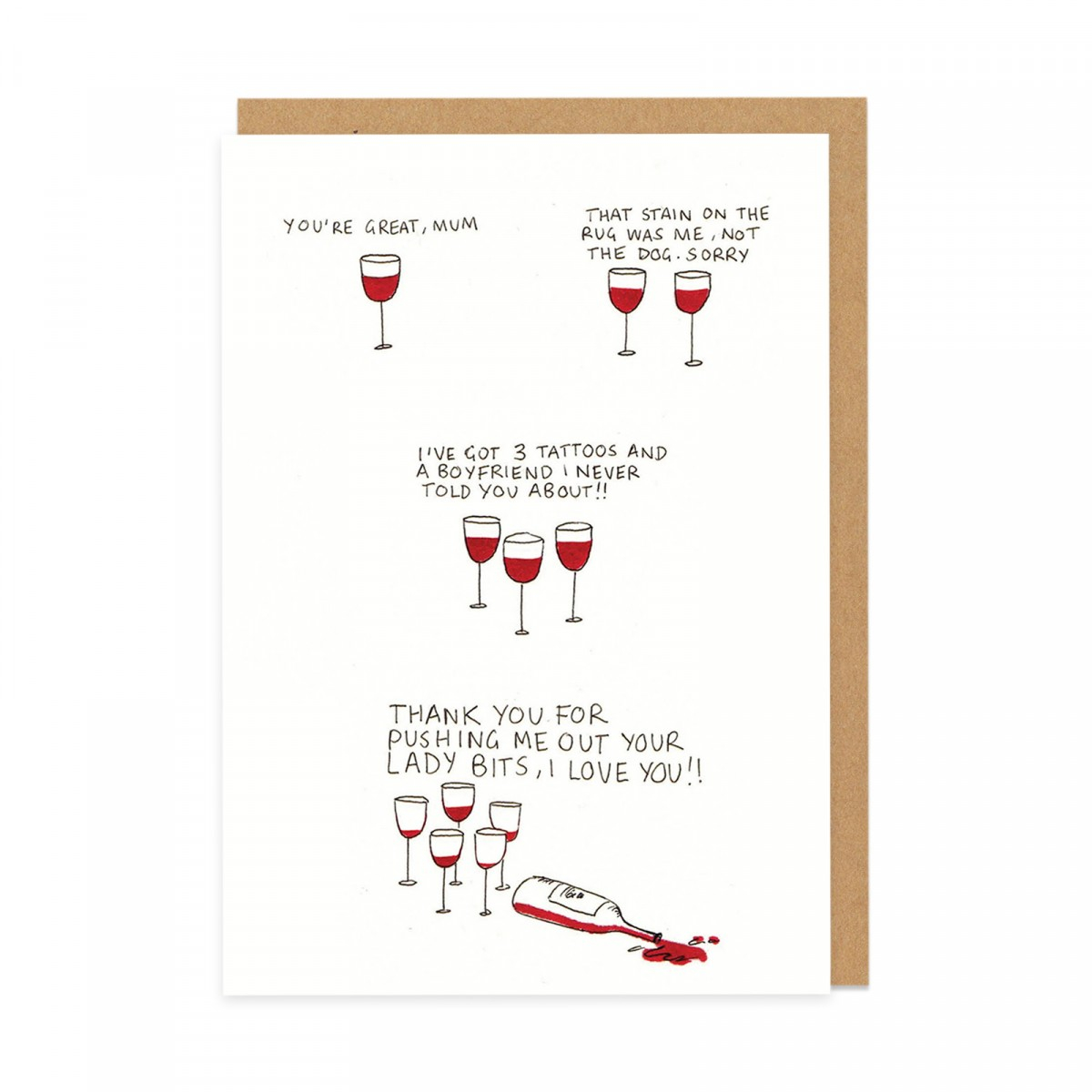 Cute Birthday Card Ideas For Girlfriend Mothers Day Wine Greeting Card