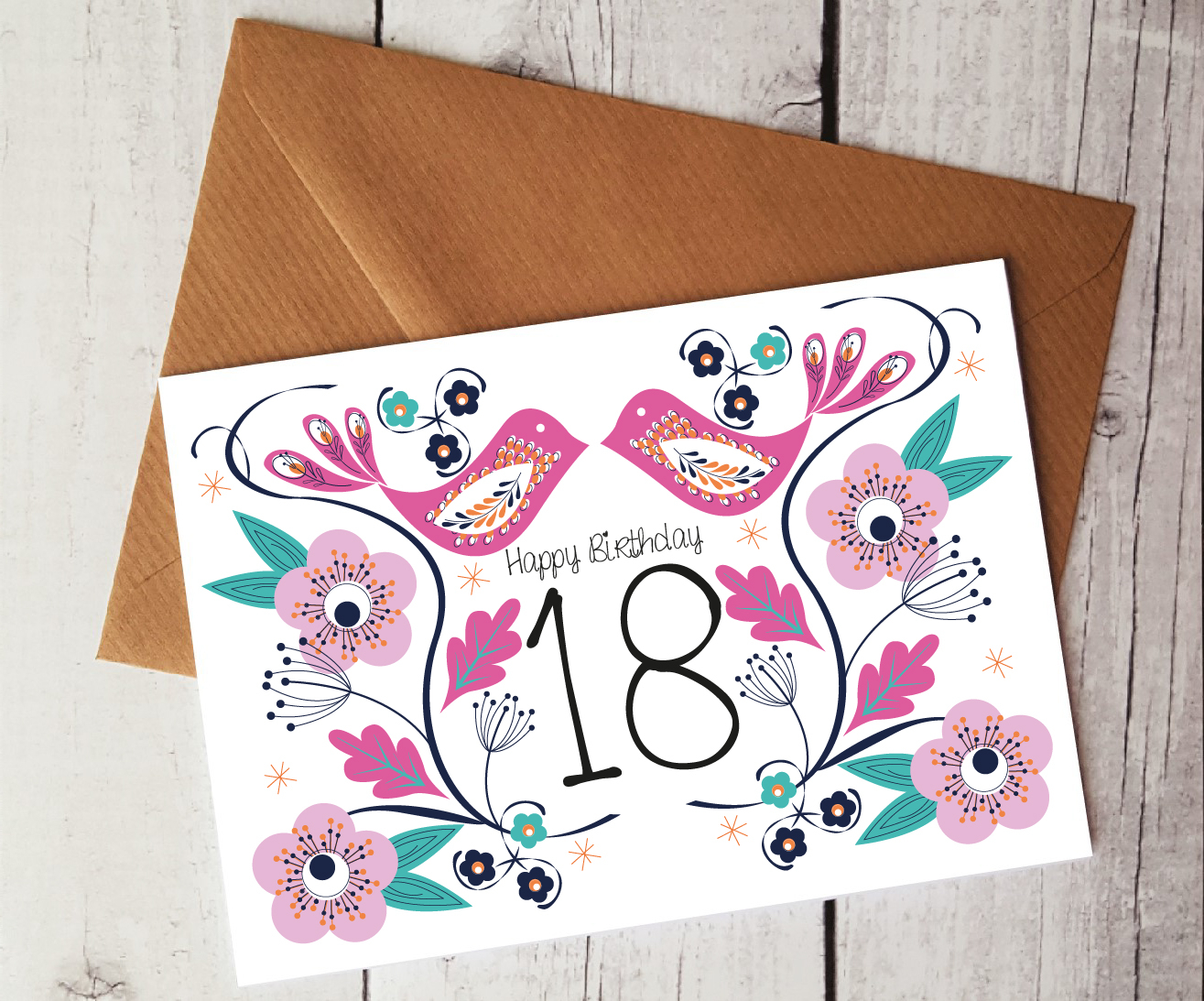 Cute Card Ideas For Birthday 18th Birthday Card