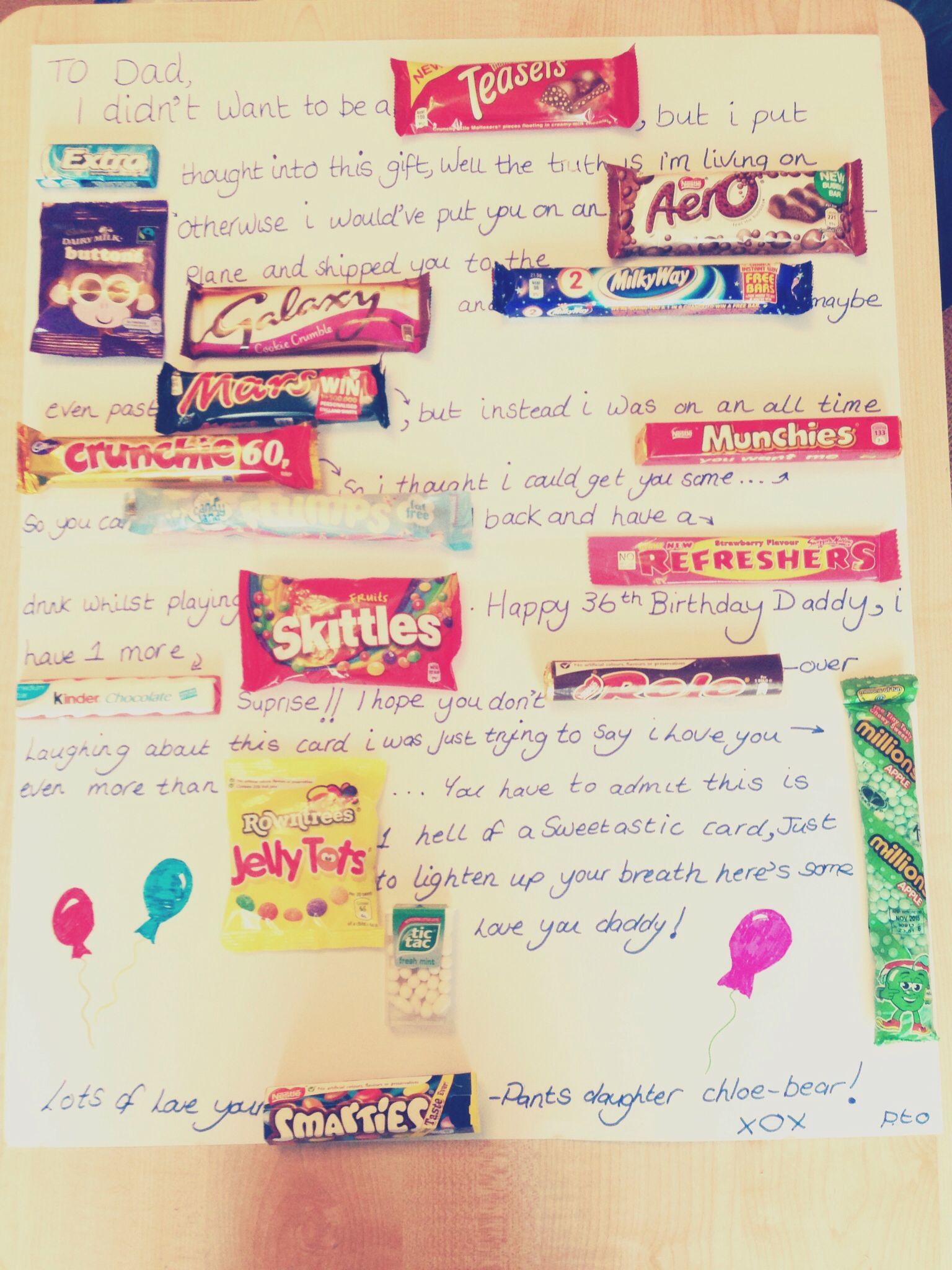 Dad Birthday Card Ideas Handmade Birthday Card Ideas For Daughter Uk Sweets Card For Dad