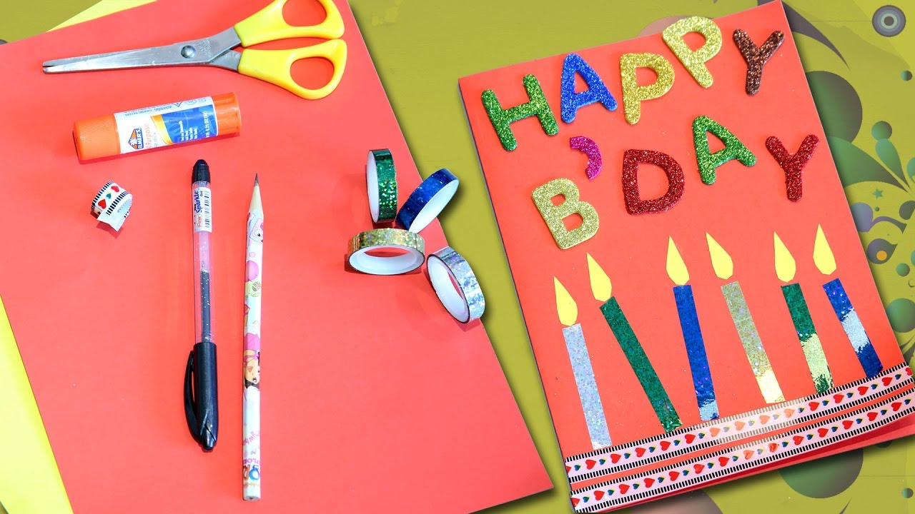 Easy Birthday Card Ideas For Kids 97 Birthday Cards For Toddlers To Make Thank You Card Ideas For